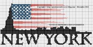 Grille gratuite point de croix : New York | Point de croix ...