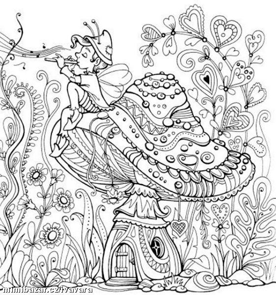 Garden fairy coloring pages ~ AKTIVITY S DĚTMI - ANTISTRESOVÉ OMALOVÁNKY - PODZIMNÍ ...