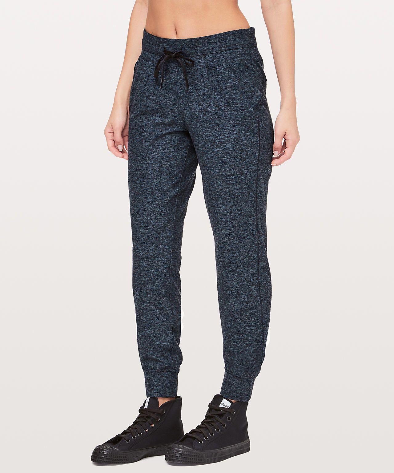 Heathered true navyblack pants for women technical