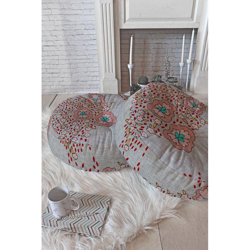 Holli Zollinger Floral Floor Pillow Floor pillows