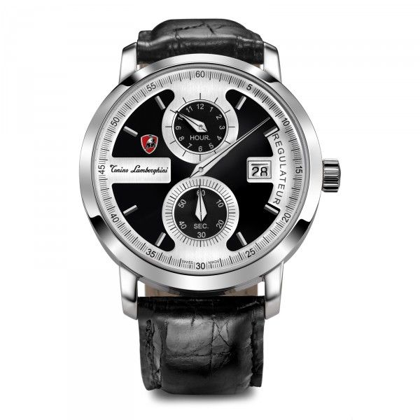LAMBORGHINI 1947 WATCH MOD. 2507 BLACK REGOLATEUR