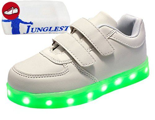 (Present:kleines Handtuch)Schwarz EU 35, Unisex Luminous Sport JUNGLEST® High LED-Licht Couple Casual Sneakers USB Sneakers Flash Top Shoes Charging