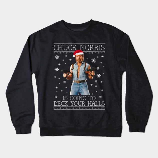 Chuck Norris Weihnachten.Chuck Norris Deck Your Halls Christmas Knit Ugly Sweater