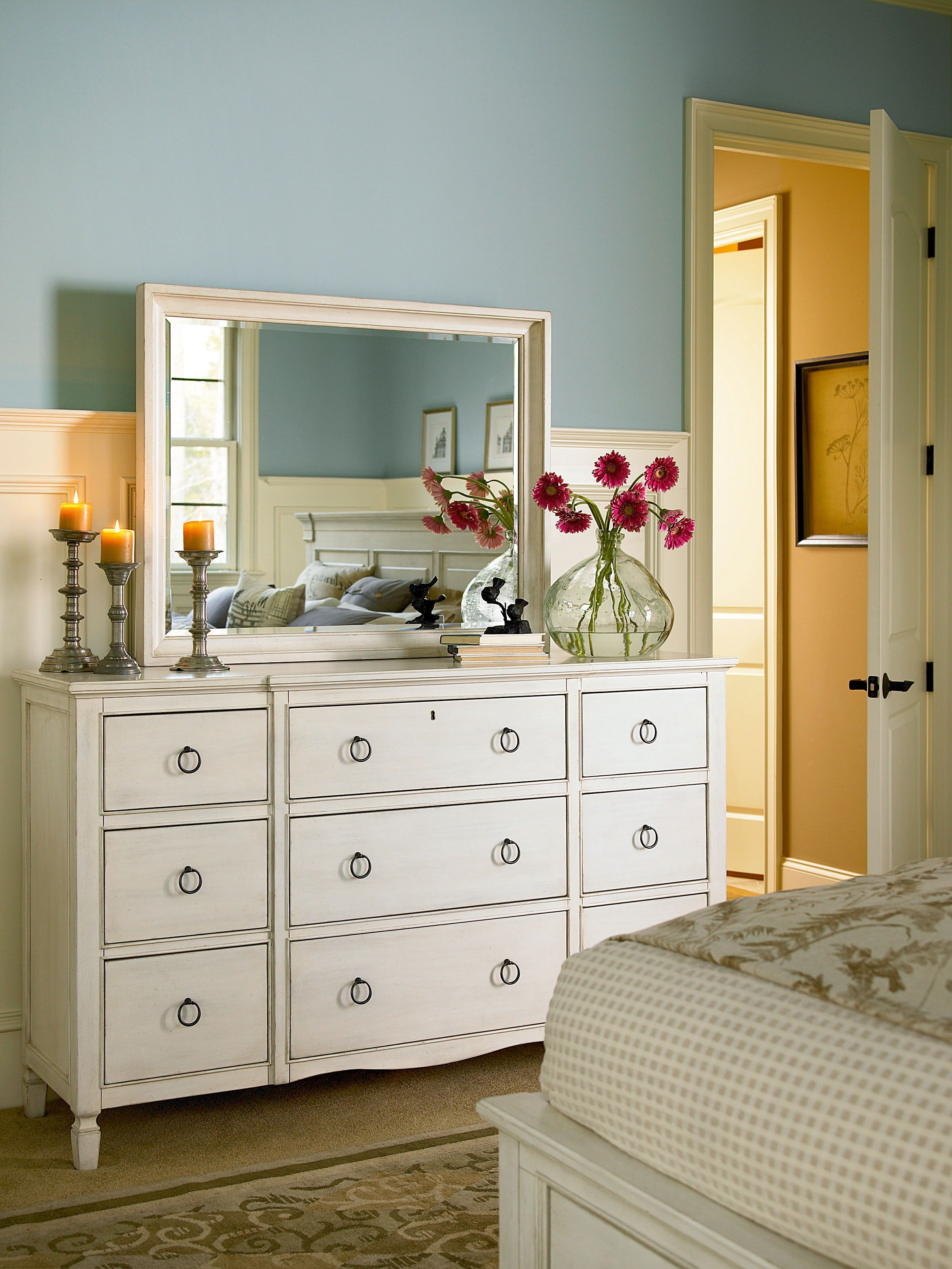 Summer Hill Collection- Mirror and Nine Drawer Dresser