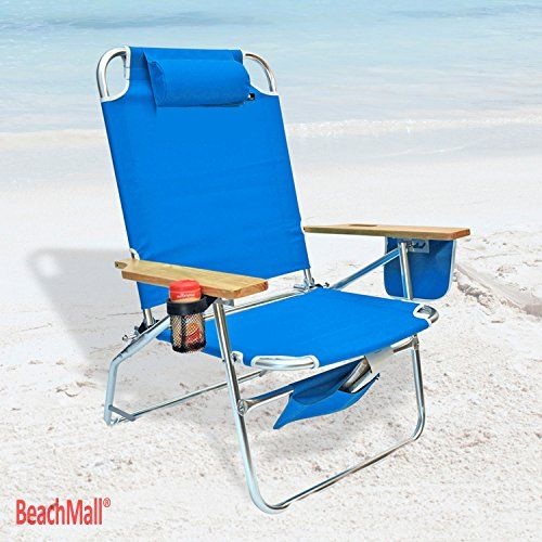 Big Jumbo Heavy Duty 500 lbs XL Aluminum Beach Chair - sillas de playa