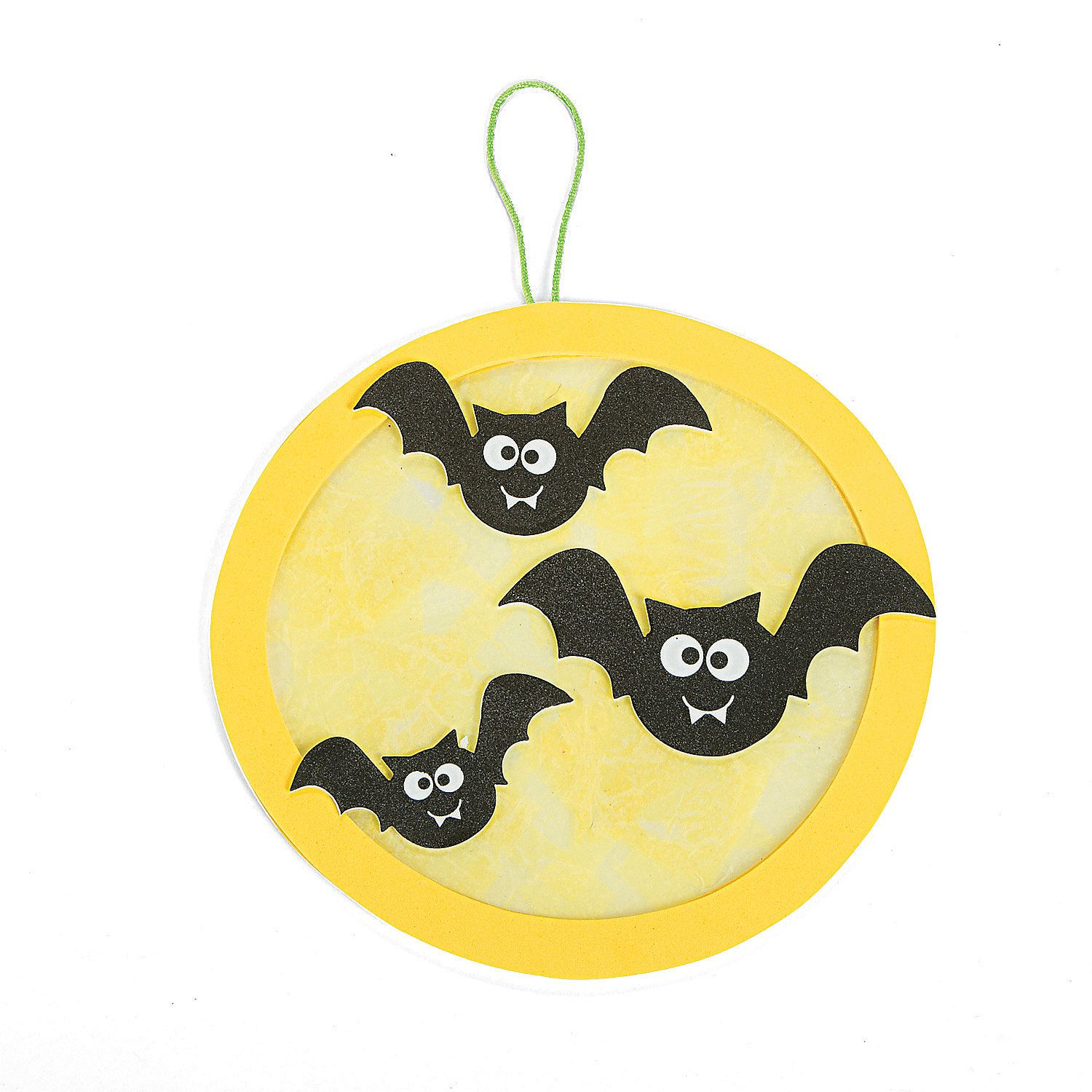 moon u0026 bats paper plate halloween craft jess ideas pinterest