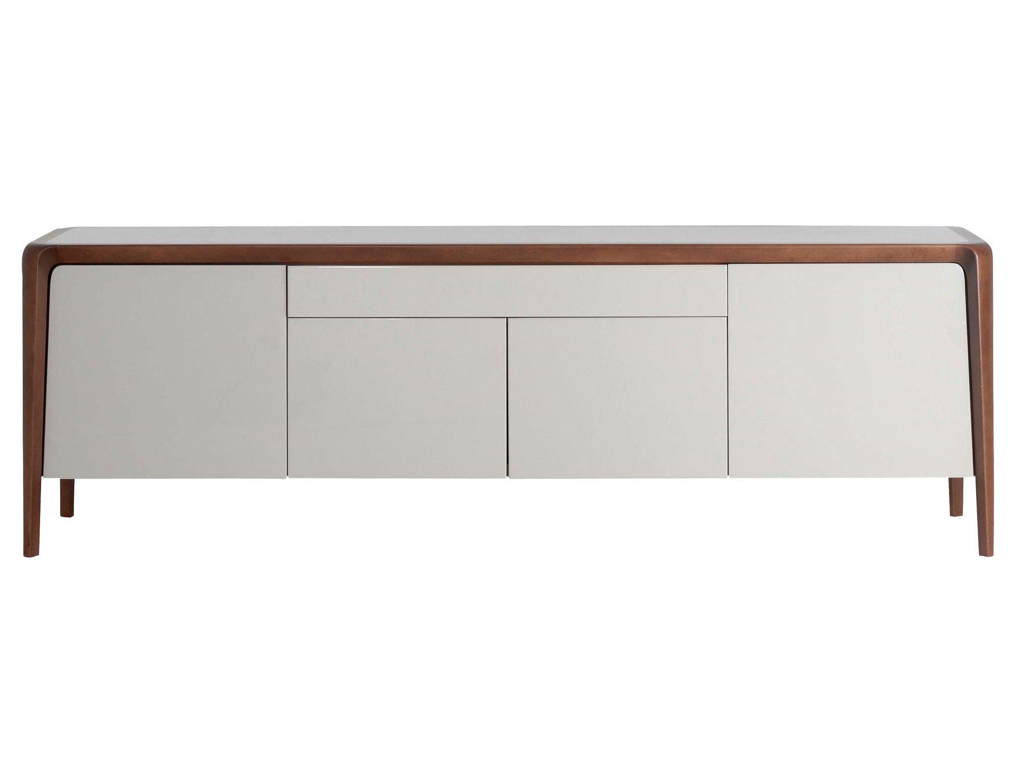 beech sideboard brio les contemporains collection by roche bobois design sacha lakic shelves. Black Bedroom Furniture Sets. Home Design Ideas