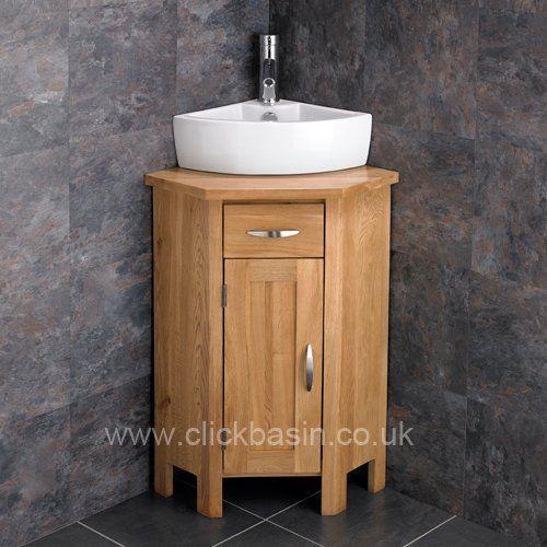 Clickbasin Olbia Ceramic Corner Basin With Ohio Solid Oak Https Www Amazon Co Uk Dp B00p Freestanding Bathroom Cabinet Corner Vanity Oak Bathroom Cabinets