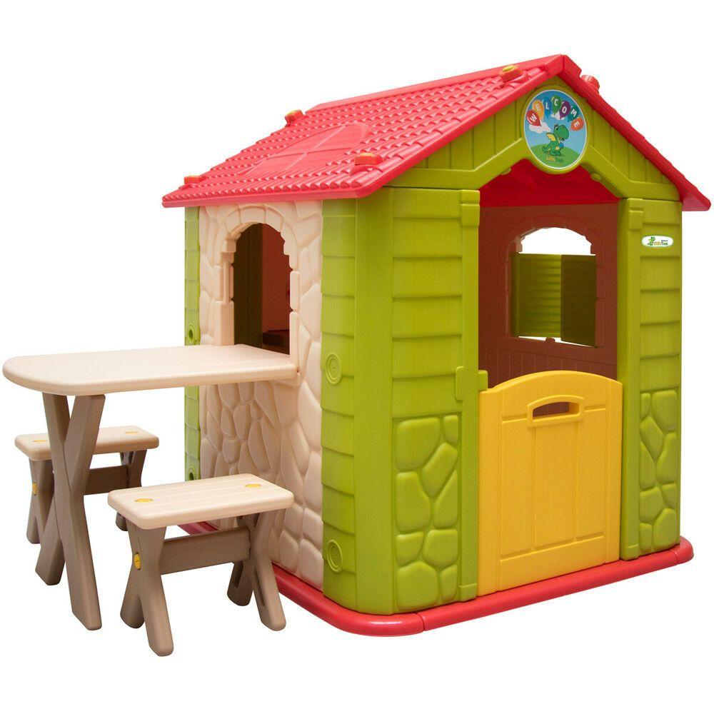 eBay Sponsored buntes Kinderspielhaus inkl.Tisch und 2