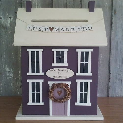 Wedding Card Holder Money Box House The By Doorcountywoodworks