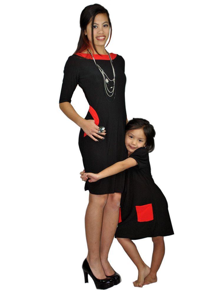 Matching mother-daughter dress - Emma Black Dress   meNmommy.com