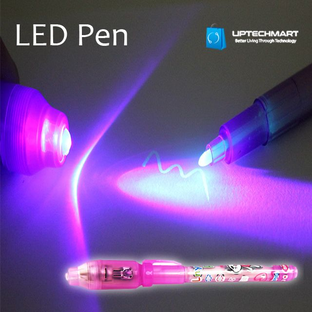 LED UV Light Invisible Security Marker Pen Fun Security Batteries Included
