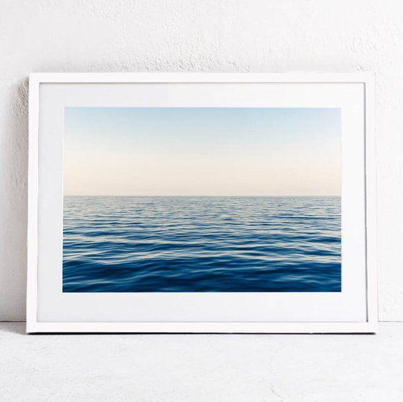 Ocean Print, Sea Horizon Print, Ocean Waves Printable Art Print