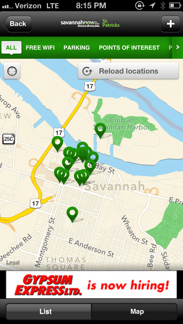 "Just one of the 1,347 awesome features about our new #savstpats app is its curated directory of where to find stuff like Port-a-Potties, free WiFi hotspots and -- most importantly -- on-street parking! It even gives you walking directions on how to get there. Download the app for free today by searching ""savannahnow"" in the iTunes App Store or Google Play store."