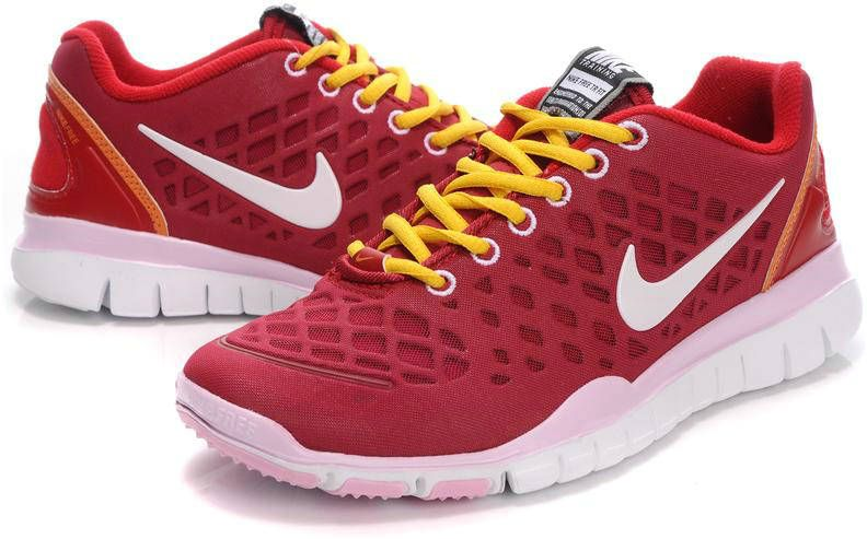 save off 93bdc 06018 Womens Nike Free TR FIT Red Yellow White Running Shoes  74.33