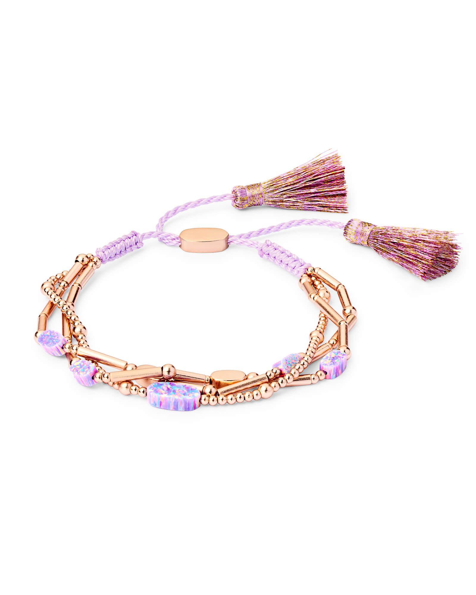 c80de0a3944b6 Chantal Rose Gold Chain Bracelet in Lavender Kyocera Opal | Kendra ...