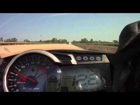 GSXR 1000 top speed run 186 mph
