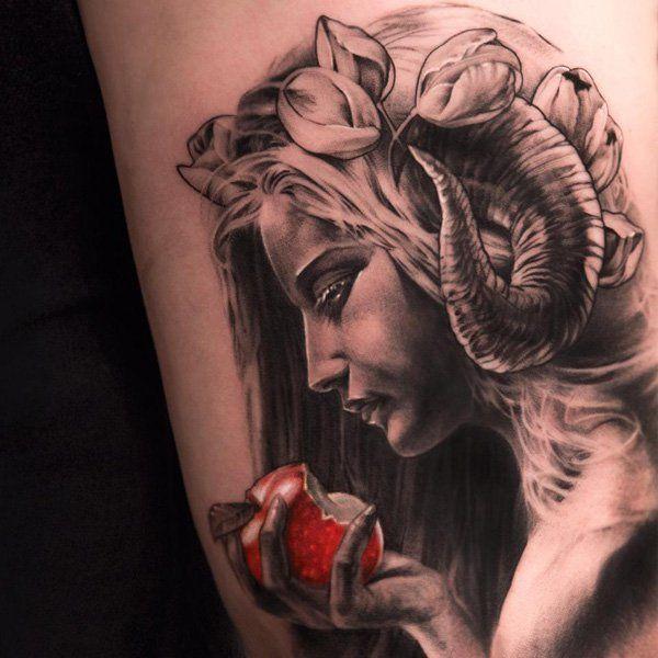 Tattoo Designs Woman Portrait: 70+ Amazing 3D Tattoo Designs