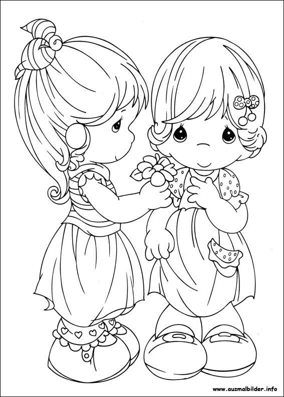 Hermanas Lienzos Para Pintar Dibujos Para Colorear Muñequitos