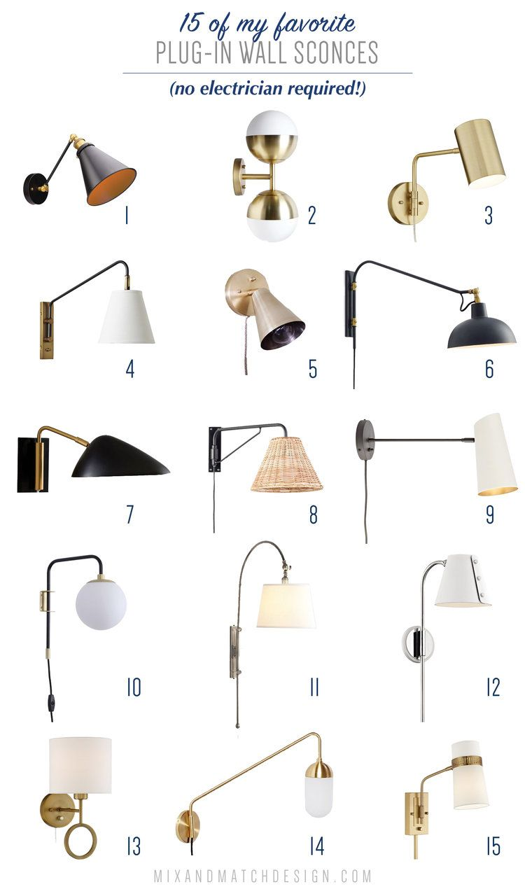 All About Plug In Wall Sconces And A Roundup Of My Favorites Wall Sconces Bedroom Sconces Living Room Plug In Wall Sconce