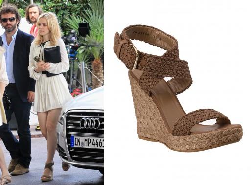 Rachel McAdams Wearing Stuart Weitzman Alex Espadrille Sandals - Steal The  Style