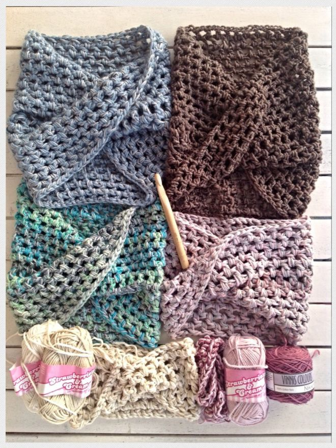 Twisted Crochet Neck Warmer | Pinterest | Tejidos de punto, Ponchos ...