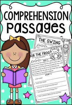 Reading Comprehension Passages. It includes a number of question types throughout such as multiple choice, open-ended, inferential and opinion. It also includes a My Comprehension Guide which you can print on colored paper and laminate.