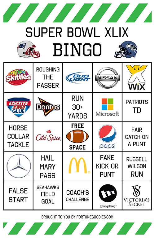 photograph relating to Printable Super Bowl Bingo Cards referred to as Tremendous Bowl 2015 Bingo Playing cards Printable #superbowl Do-it-yourself (Do