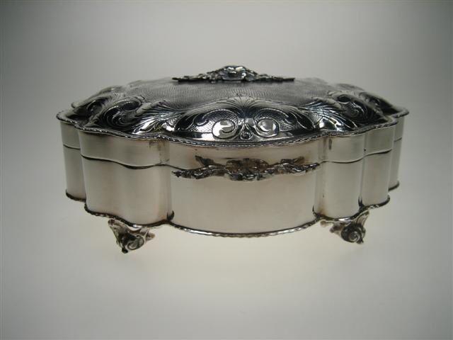 Zilveren oude theedoos uit een top collectie