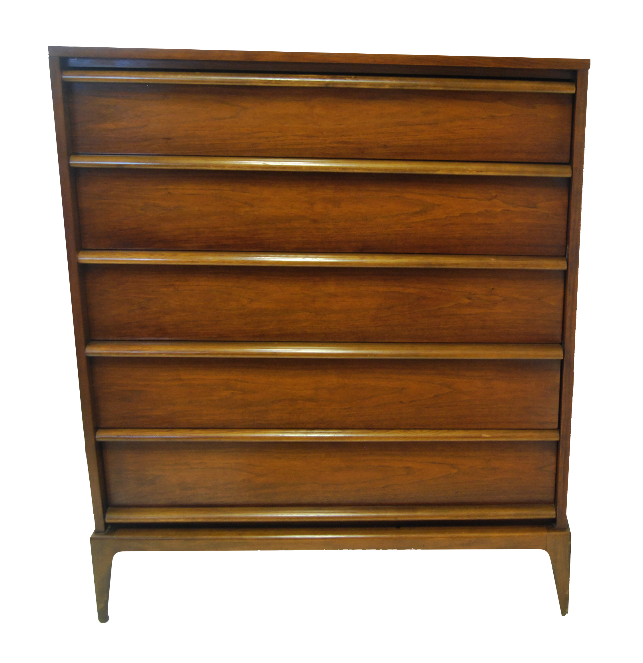 Lane Rhythm Mid Century Modern Tallboy Dresser On Chairish