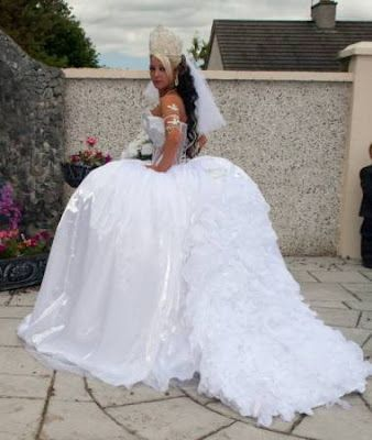 Matrimonio Gipsy Queen : White wedding dress with the theme of royal queen my big fat gypsy