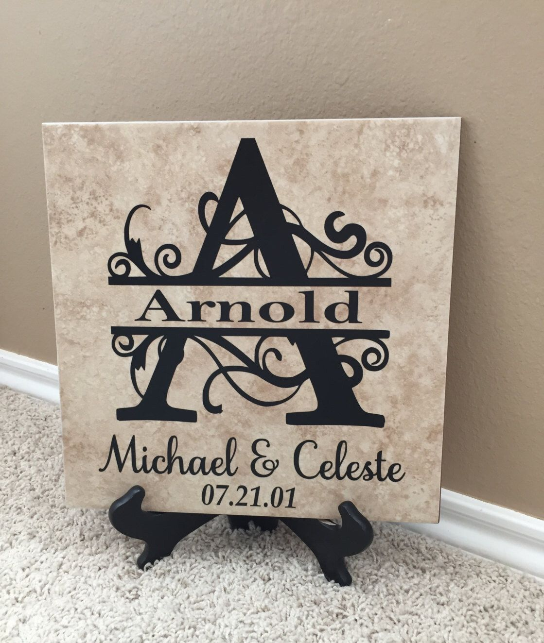 Personalized Tile Wedding Gift Personalized Gifts For Etsy Personalized Wedding Gifts Personalized Couple Gifts Couple Gifts