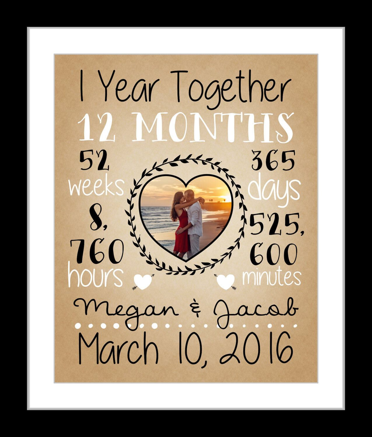 First anniversary gift together 1 year anniversary gift