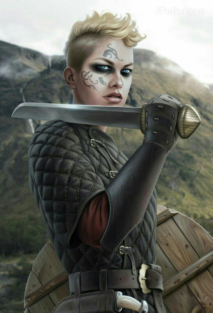 Female Viking Fighter Pathfinder Pfrpg Dnd D D D20 Fantasy