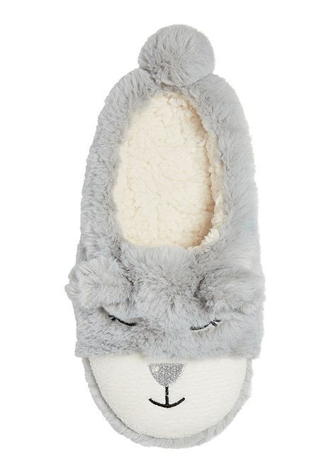 Tesco direct: F&F Bear Mule Slippers | Slippers | Pinterest ...