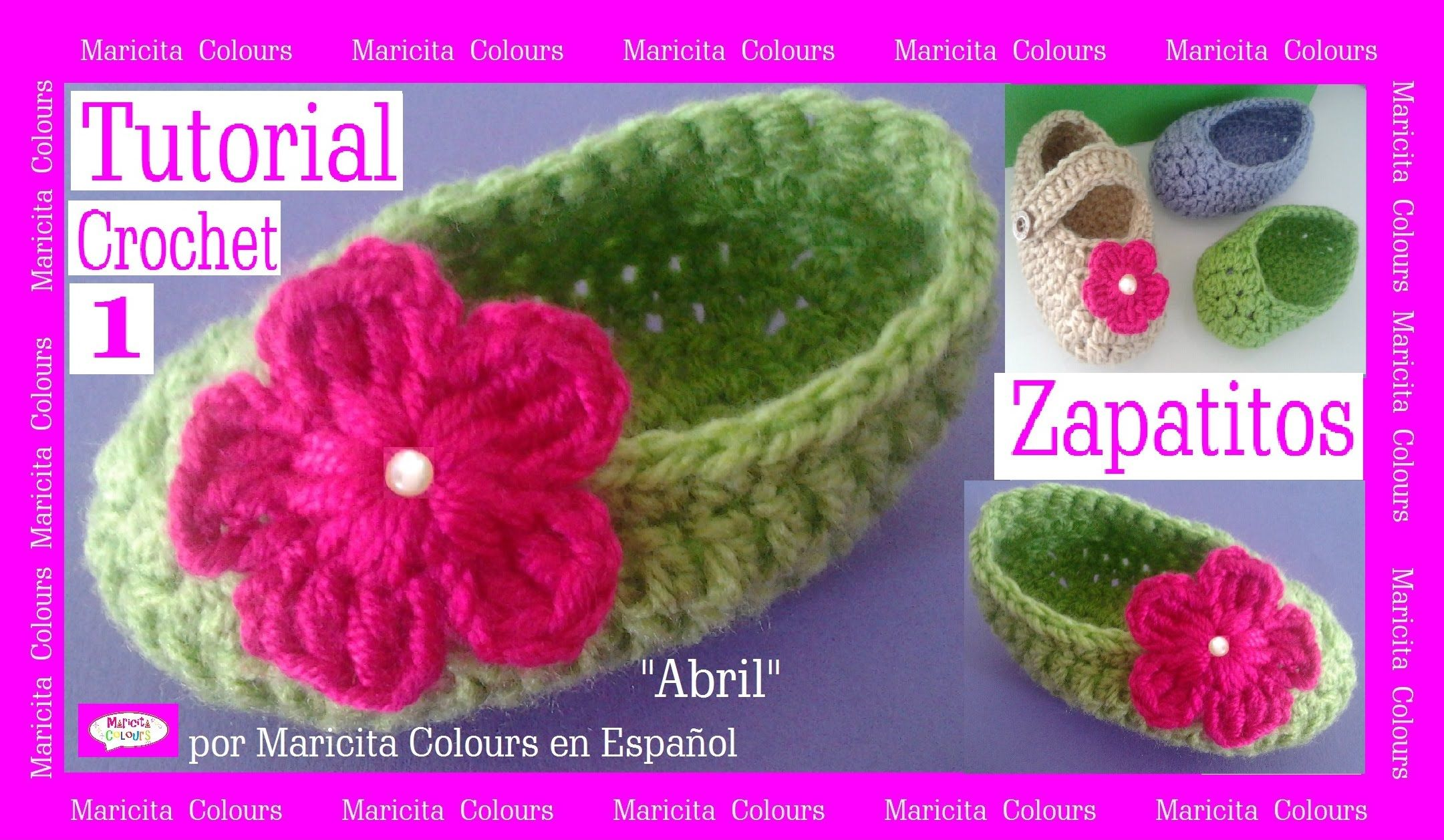 Crochet Tutorial Zapatitos Escarpines Bebe \