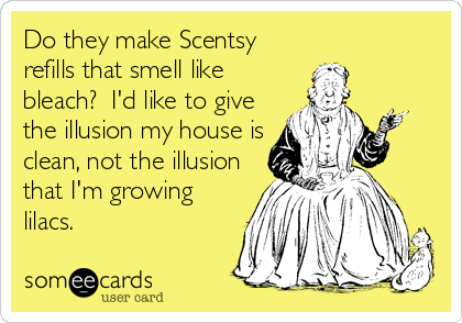 do they make scentsy refills that smell like bleach i 39 d like to give the illusion my house is. Black Bedroom Furniture Sets. Home Design Ideas