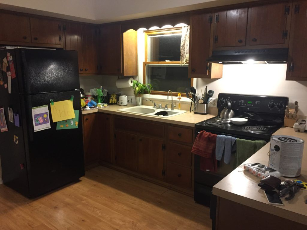 How To Update A 1970s Kitchen On A Budget The Granvillian In 2020 Kitchen Cabinets On A Budget Update Kitchen Cabinets Updated Kitchen