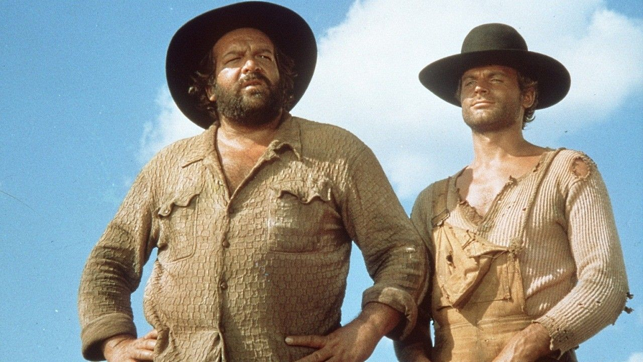Terence Hill And Bud Spencer In They Call Me Trinity Lo Spaghetti Western Western Film Trinity