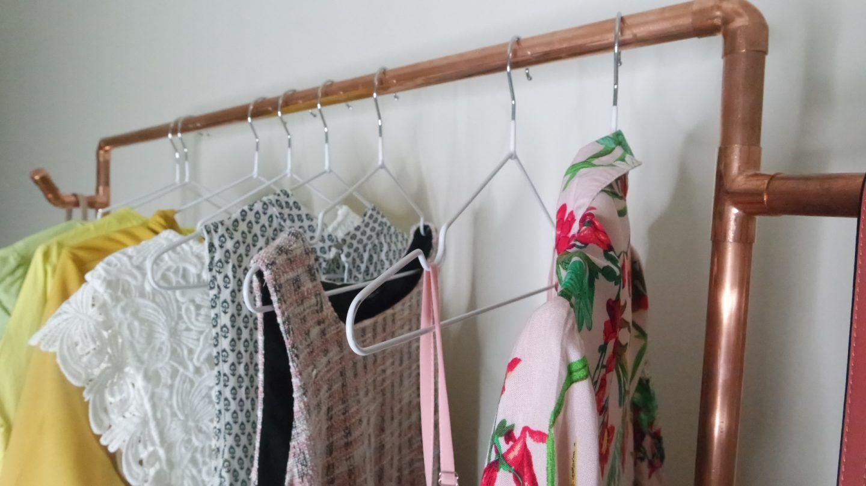 Copper pipe clothing rack copper pipe clothing rack diy