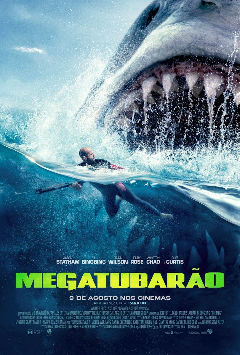 Trailer E Cartazes Do Filme Megatubarao Com Jason Statham