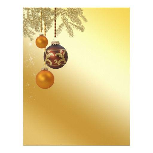 Elegant Holiday Stationery Templates  Elegant Golden Christmas