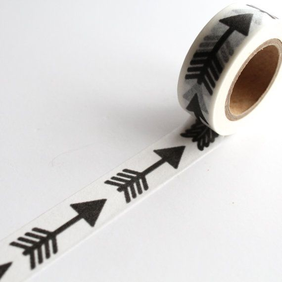 Craft Decorative Tape Small Black Arrows Washi Tape