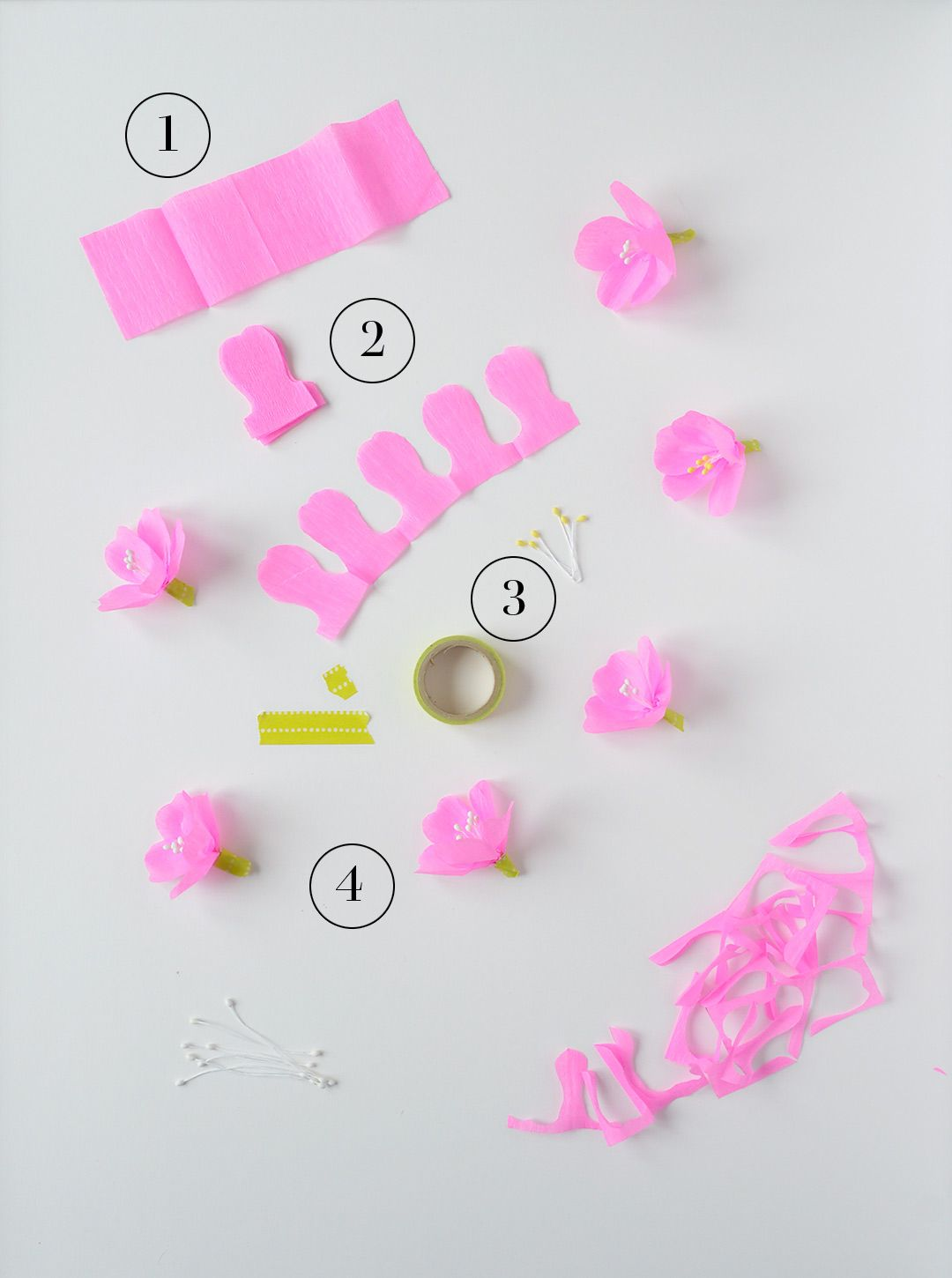Super Easy Crepe Paper Cherry Blossoms Origami Paper Flowers