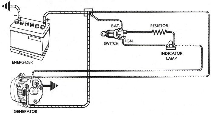 Typical Externally Regulated Alternator Wiring Instructions For The Early Gm Delco Remy External Regulated Alternator Electrical Circuit Diagram Car Alternator
