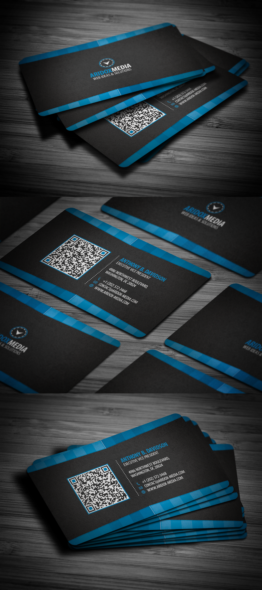Professional Corporate Business Card By Flowpixel On Deviantart
