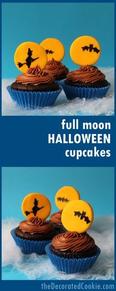 full moon cupcakes f Lella\u0027s Cupcakes Pinterest - cupcake decorating for halloween