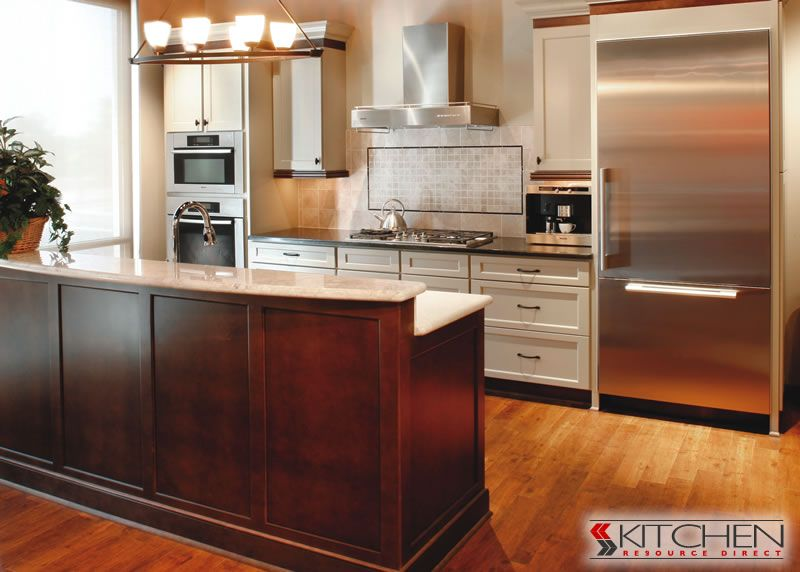 Beau Kitchen Resource Direct   Shaker II Cherry Java And Painted Antique White