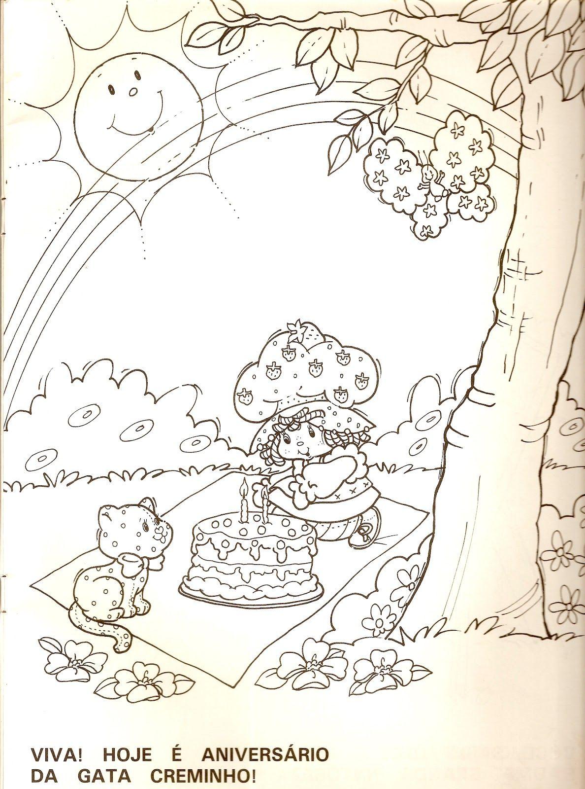 Pastel Dibujo Animado Para Colorear. Pastel De Cumpleanos Para ...