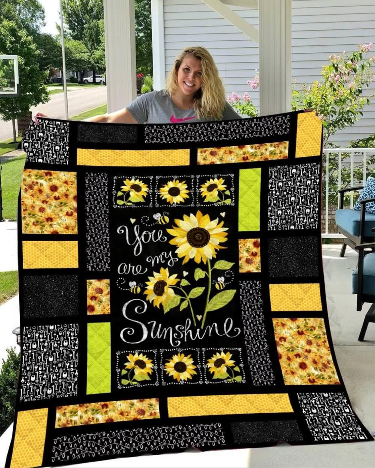 Sunflowers You Are My Sunshine Quilt V1 On Sale In 2020